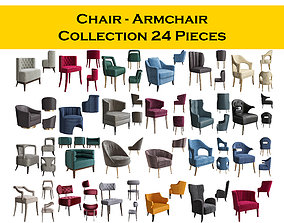 3D model Chair - Armchair Collection 24 Pieces