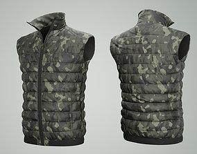 3D asset VR / AR ready Jacket Sleeveless Camouflage