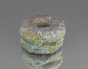 3D model Round cake with cream