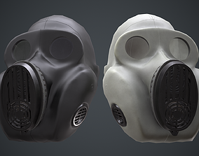 PBF Homyak USSR gas masks black and white 3D model