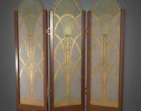 3D model Room Divider 02 Art Deco - PBR Game Ready