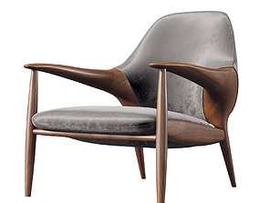 wood 3D Luxury Lounge Chair 084