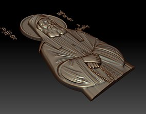 Orthodox icon of Saint Paisios 3D model