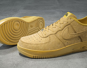 Nike Air Force 1 low Flax 3D asset
