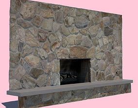 3D model Mid-Century Modern Fireplace