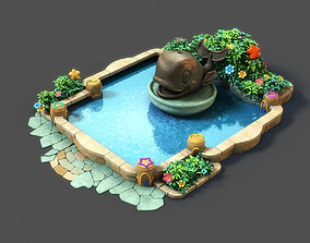3D Cartoon Fountain