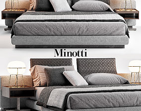 3D model Minotti Yang Bed