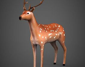 3D asset game-ready Low poly Deer