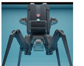 3D asset low-poly Concept bot