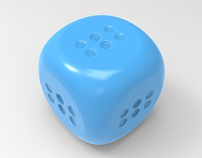 3D printable model lucky dice