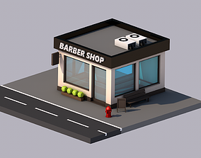 3D asset Barbershop house