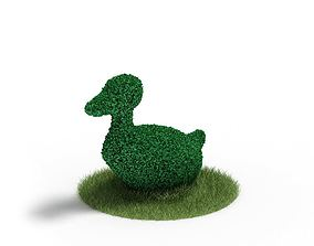 Plant Topiary Duck 3D model