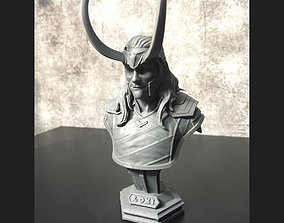 3D print model LOKI Bust With Helmet - Tom Hiddleston - 4