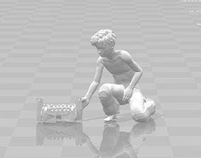 3D print model Sandro on the beach with a sand castle