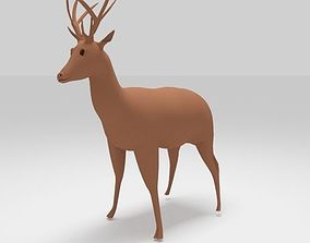 Low poly Deer 3D model