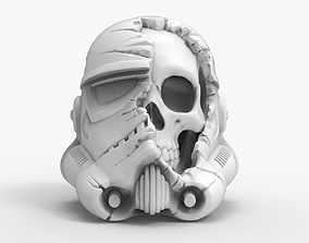 3D print model Destroyed Death Storm Trooper Helmet 2
