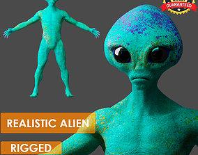 3D asset Realistic Alien low-poly