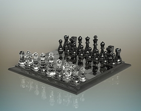 3D model Glass Chess Set