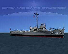 3D USS PC-1045 Submarine Chaser