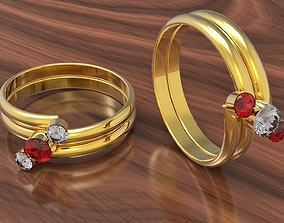 3D model Jewelry Ring Brilliant Shape Gem