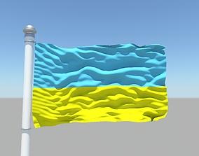 Ukraine flag 3D