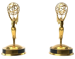 game-ready Low-Poly and Hi-Poly Emmy Award Model With PBR