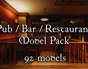 VR / AR ready Pub-Bar-Restaurant Pack - 92 Unique PBR 2