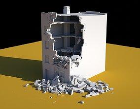 exterior 3D model Damaged Building