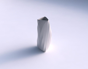 Vase twist triangle with twisted bands 3D printable model