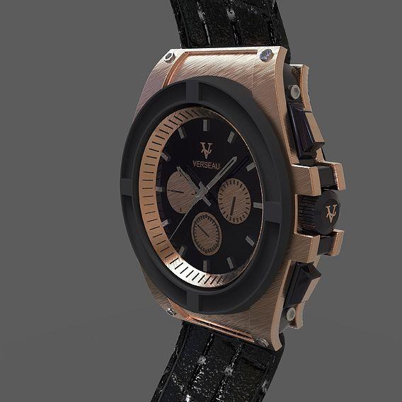 3D design of a wrist watch