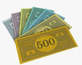 3D model Monopoly Money