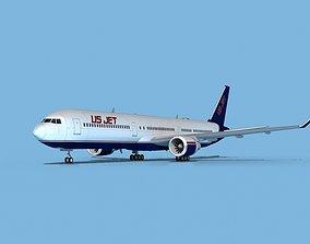 Boeing 767-400 US Jet 3D model