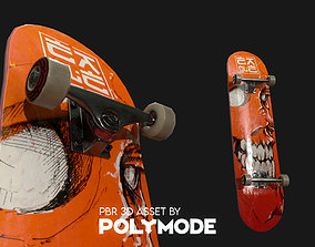 3D model Low poly Skateboard PBR Game-ready