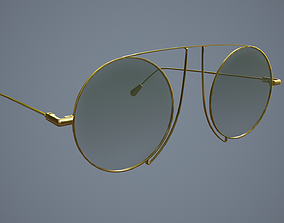 3D model game-ready PBR Glasses