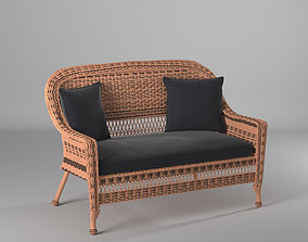 3D asset Alburg Loveseat with Cushions