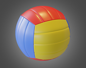 Volleyball Lowpoly 3D asset