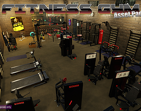 3D asset Low-Poly Fitness-Gym Pack