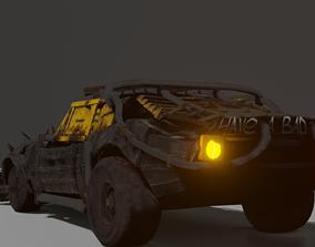 3D asset Chevrolet Camaro 1969 Post apocalypse edition