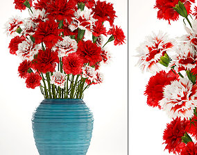Bouquet of flowers red Carnation 3D
