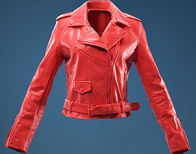 PVC Moto Jacket Closed 3D