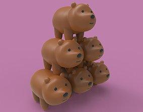 3D printable model teddy bear