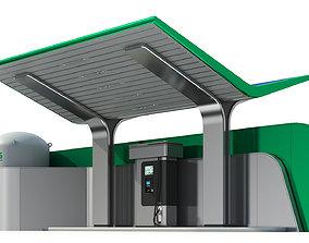 Hydrogen gas station 2 3D