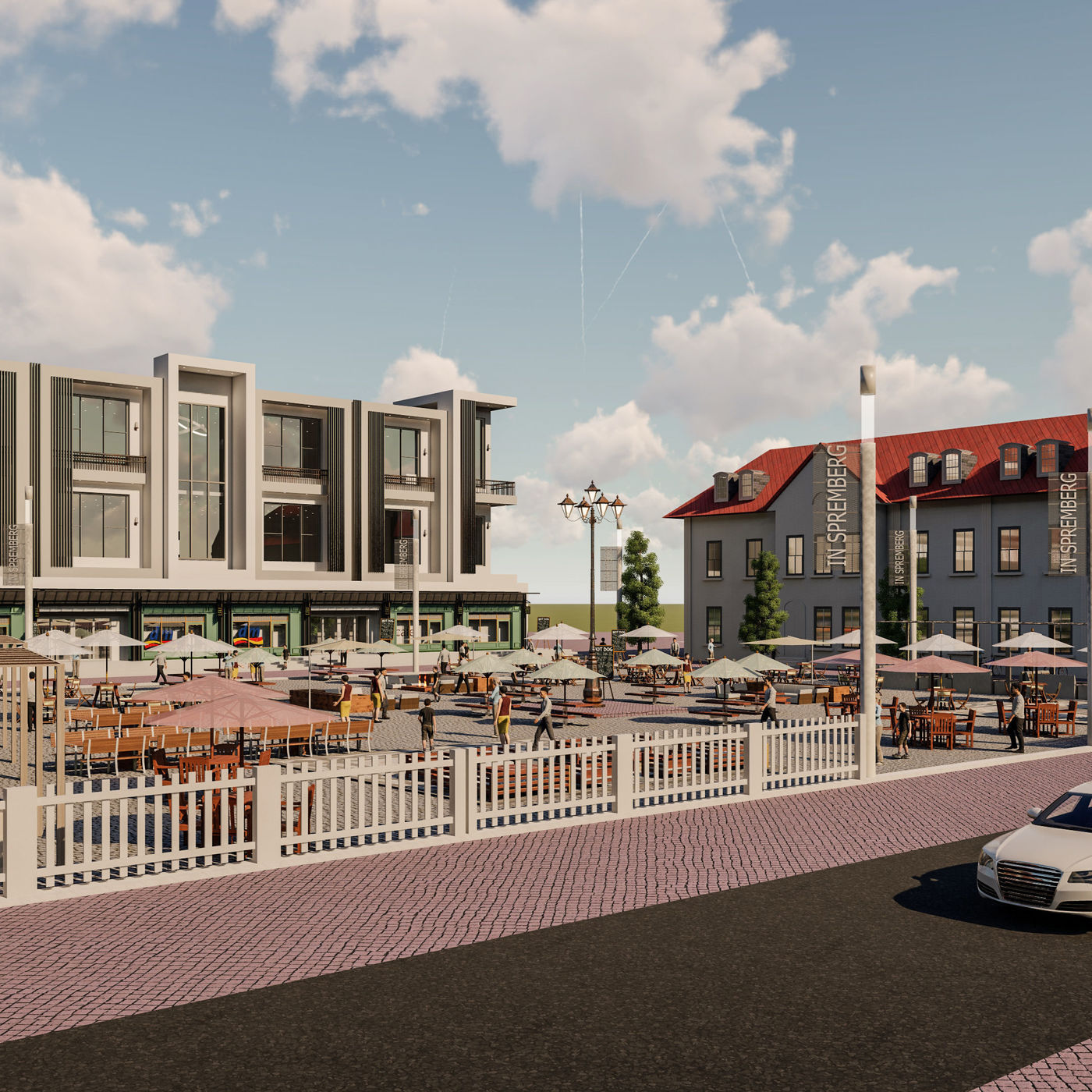 Shop appartment building in town hall of spermbreg renovation and render in lumion 8.5 pro