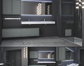 3D Bathroom furniture set Planeta