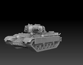 3D print model Tank With 2 Turret Variations