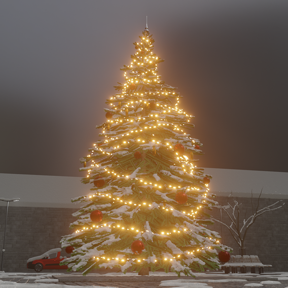 Blender-2.91 Real Snow Test-12