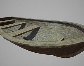 3D asset Wood Boat