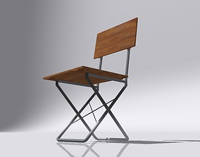 Wooden Chair ready 3D