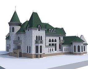 historic forest Castle 3D model