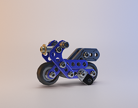 3D model Meccano - Pocket Bike Mini Moto Meccano - 16204